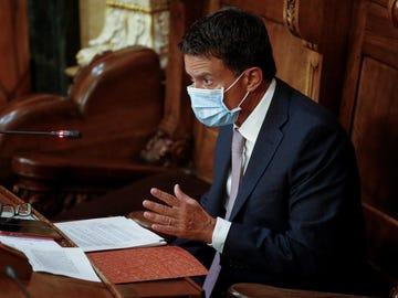 El presidente del grupo municipal de Barcelona pel Canvi y exprimer ministro francés, Manuel Valls.