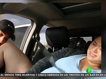 El momento en el que una joven da a luz en el coche al no poder llegar al hospital