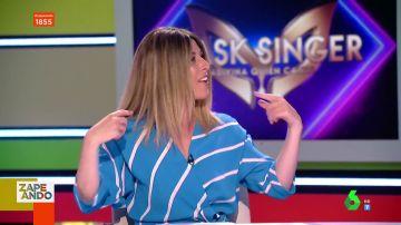La reacción de Valeria Ros cuando Maya Pixelskaya afirma en directo que está detrás de una máscara de Mask Singer