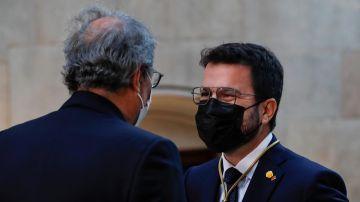 El expresidente de la Generalitat Quim Torra felicita a Pere Aragonès