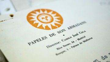Sello y logo de la revista 'Papeles de Son Armadans', esencial en la carrera literaria de Camilo José Cela
