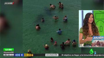 La bióloga Evelyn Segura advierte en Aruser@s sobre el peligro de nadar con algunos animales