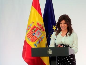 La escritora Ana Iris Simón, en un intervención en Moncloa