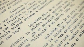 """Fragmento de la carta de Cela en la que se queja del tachón en la palabra """"puta"""""""