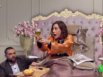 """La divertida imitación de Cristina Gallego a Ayuso: """"Si me hubiera presentado a Eurovisión hubiera sacado mayoría absoluta"""""""