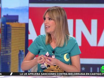 María Moya muestra en Aruser@s su traje de novia