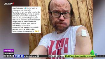"""El mensaje de Santiago Segura tras vacunarse contra el coronavirus: """"Esperemos que sea el principio del fin"""""""