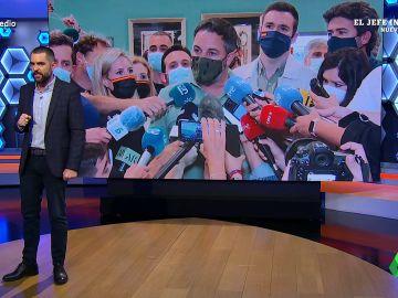 """El Intermedio (25-05-21) La respuesta de Dani Mateo a Abascal tras decir que los """"servicios secretos"""" están tras los disturbios en Ceuta"""