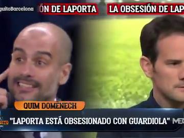 """¿Regreso de Guardiola al Barça? Quim Domènech ve a Laporta """"obsesionado"""" con la vuelta de Pep"""