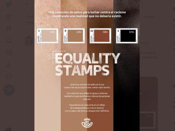 Imagen de la campaña antirracista de Correos
