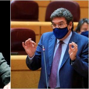 A la izquierda, Antonio Garamendi; a la derecha, José Luis Escrivá