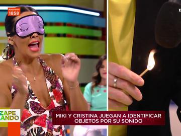 """El sufrimiento de Cristina Pedroche al someterse en directo al reto del ASMR sin ver nada: """"¡Huele ha quemado!"""""""