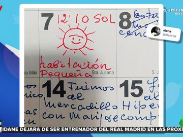 Un anciano crea un diario con los planes que realiza durante la semana con sus seres queridos