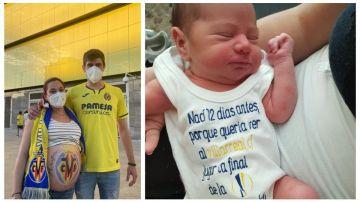 "Hugo, el bebe 'groguet' que nació dos semanas antes ""para poder disfrutar de la final contra el Manchester"""