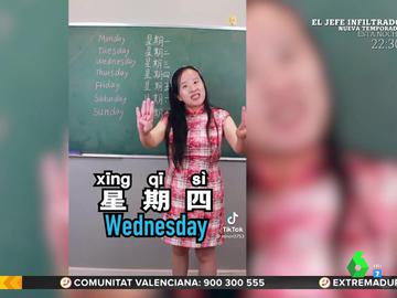 El vídeo viral de una joven enseñando los días de la semana en chino