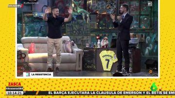 El dardo de Grison en 'La Resistencia' a De Gea por su penalti fallido frente al Villarreal