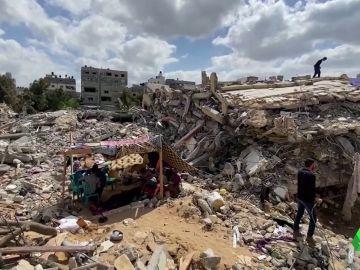 Imagen de ruinas tras un bombardeo
