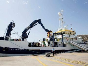 Imagen del buque Ángeles Alvariño