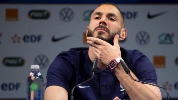 Benzema, en rueda de prensa