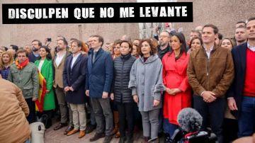 La foto de colón con Casado, Abascal y Rivera