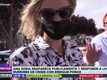 Ana Soria se pronuncia sobre los rumores de crisis con Enrique Ponce