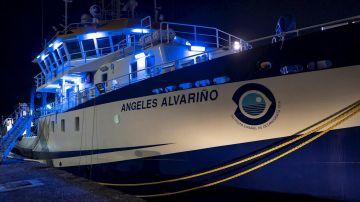"""El buque oceanográfico """"Ángeles Alvariño"""" dotado con un sonar de barrido lateral y con un robot submarino que se sumará a la búsqueda de Anna y Olivia, las niñas desaparecidas igual que su padre hace más un mes"""