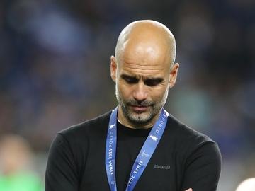 Pep Guardiola, tras caer derrotado frente al Chelsea en la final de la Champions