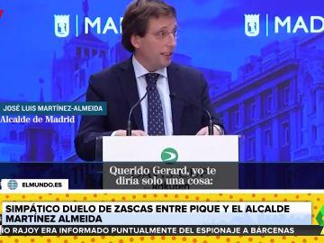 """La indirecta del alcalde Almeida a Piqué: """"El camino más corto para ser campeón es hacerse un Suárez"""""""