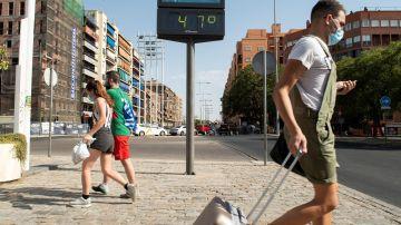 Altas temperaturas registradas en España