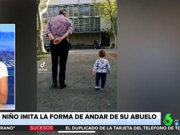 El vídeo de un niño imitando los gestos de su abuelo que se ha hecho viral