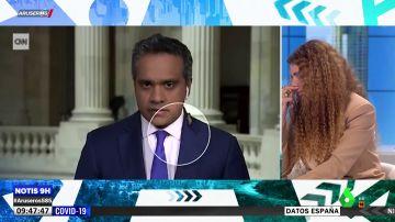 Un corresponsal de la 'CNN', sorprendido por una gran cigarra en pleno directo