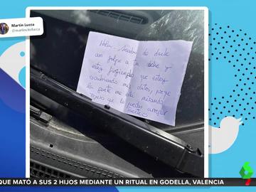 La indignante nota de un conductor tras chocar contra un coche aparcado