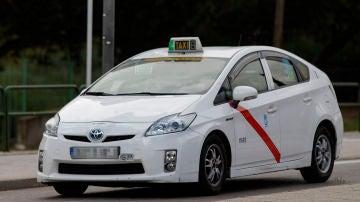 Un taxi durante el estado de alarma decretado por el coronavirus