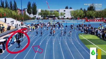 El espectacular vídeo en el que un cámara corre más que los atletas de una carrera de 100 metros