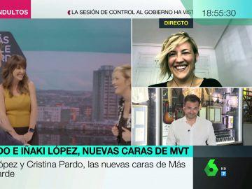 Lo que no se vio de la visita de Cristina Pardo e Iñaki López al plató de Más Vale Tarde: estas son las tomas falsas
