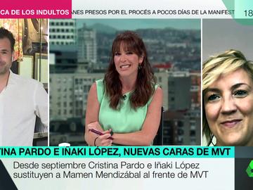"""El mensaje de Mamen Mendizábal a Cristina Pardo e Iñaki López: """"Dejo este programa en las mejores manos"""""""