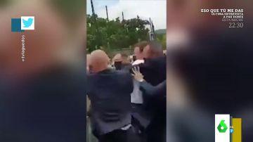 """""""Macron carga brazo como diciendo, 'te reviento'"""": el análisis de Zapeando"""