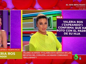 """Valeria Ros entra en directo por teléfono en Zapeando para hablar de su ruptura: """"Aquí estoy con el padre de mi hija"""""""