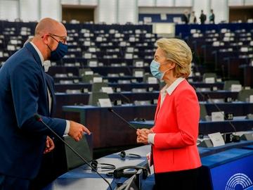El presidente del Consejo Europeo, Charles Michel y la presidenta de la Comisión Europea, Ursula Von der Leyen