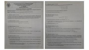 Examen de Matemáticas II de la EBAU de Madrid 2021