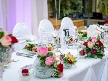 Imagen de archivo de un banquete nupcial