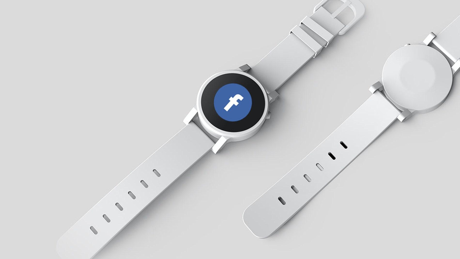 Un reloj con el logotipo de Facebook
