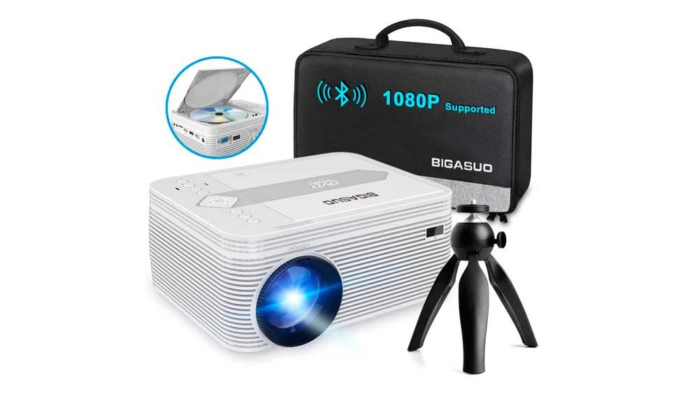 Mini proyector con reproductor de DVD integrado