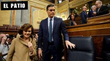 Pedro Sánchez durante la sesión de investidura (Archivo)