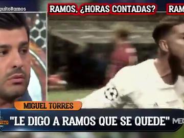 """La petición de Miguel Torres a Sergio Ramos: """"Quédate en el Real Madrid"""""""