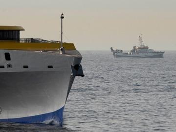 El barco oceanográfico de la búsqueda de las niñas