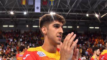 Antonio Serradilla con la selección española de balonmano