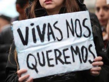 Imagen de archivo de una pancarta en una manifestación feminista.