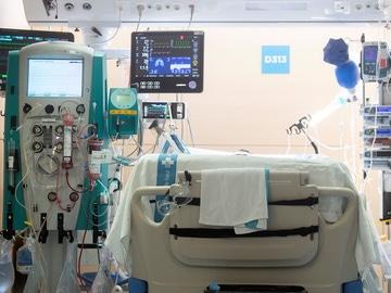Imagen de archivo de la UCI en el Hospital Vall d'Hebron de Barcelona