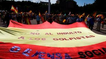 La derecha se concentra contra los indultos a los presos del procés pero evita repetir la foto de Colón